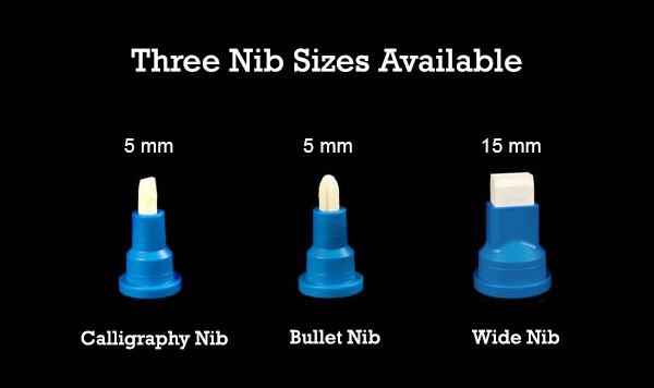 Three Nib Sizes