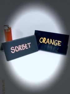 Acrylic gloss or matt price or display tags